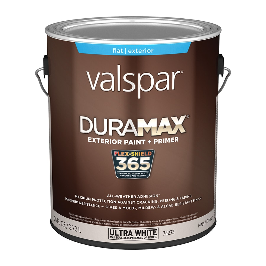Valspar Duramax Flat Latex Exterior Paint (Actual Net Contents: 126-fl oz)
