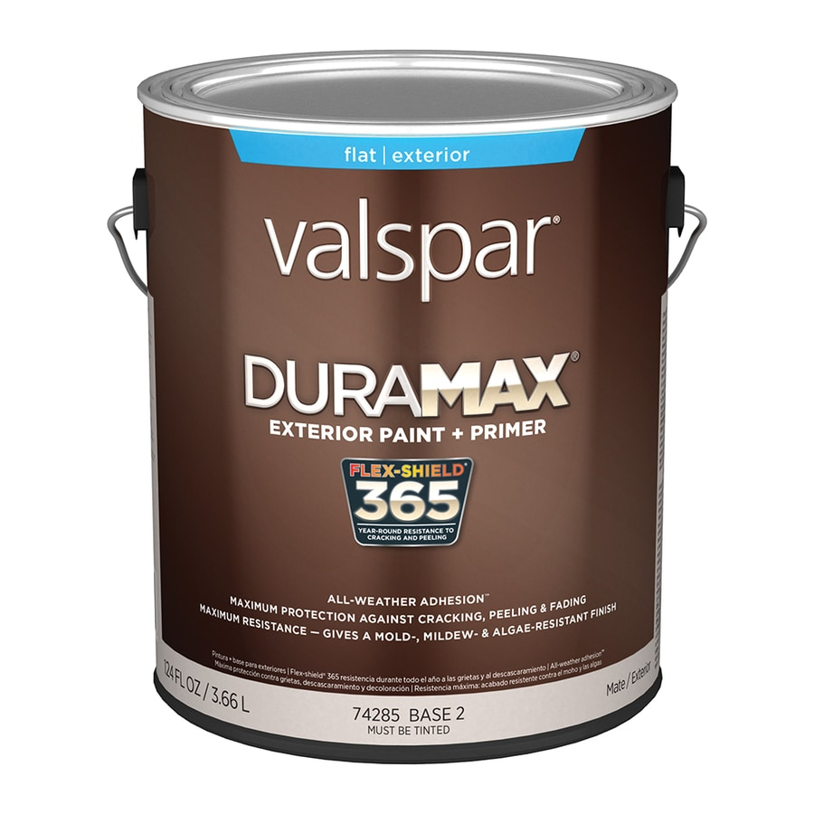 Exterior Paint Coverage Per Gallon: Valspar Duramax Flat Latex Exterior Paint (Actual Net