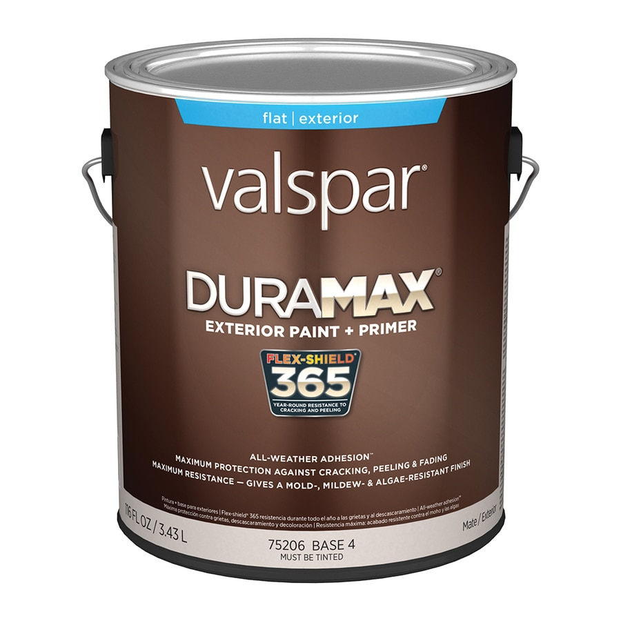 Shop Valspar Duramax Flat Latex Exterior Paint Actual Net Contents 116 Fl Oz At