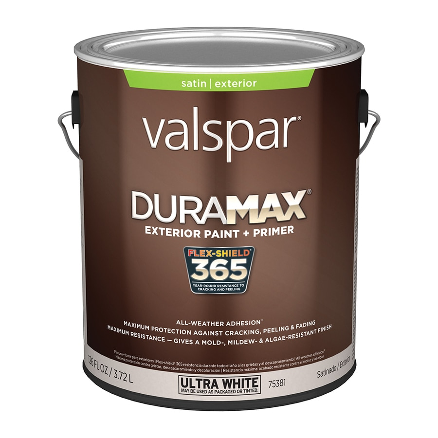 Shop Valspar Duramax Satin Latex Exterior Paint Actual Net Contents 126 Fl Oz At