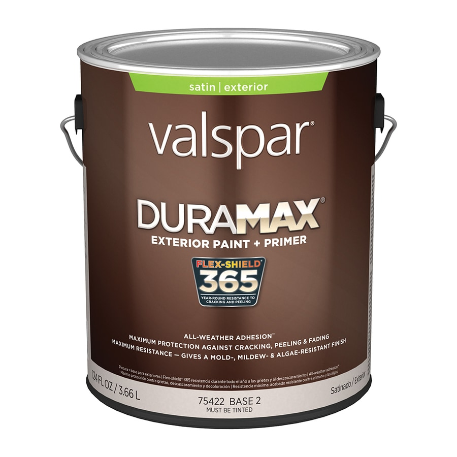 Shop Valspar Duramax Satin Latex Exterior Paint Actual Net Contents 124 Fl Oz At