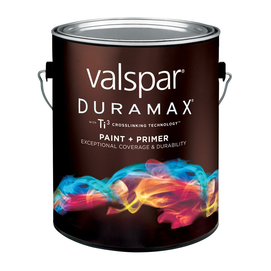 Shop Valspar Duramax Duramax White Semi Gloss Latex Exterior Paint Actual Net Contents 128 Fl