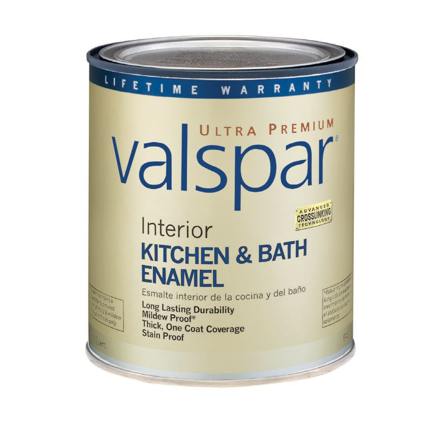 Valspar Ultra Premium 1 Quart Interior Flat Enamel Kitchen And Bath White Latex Base Paint