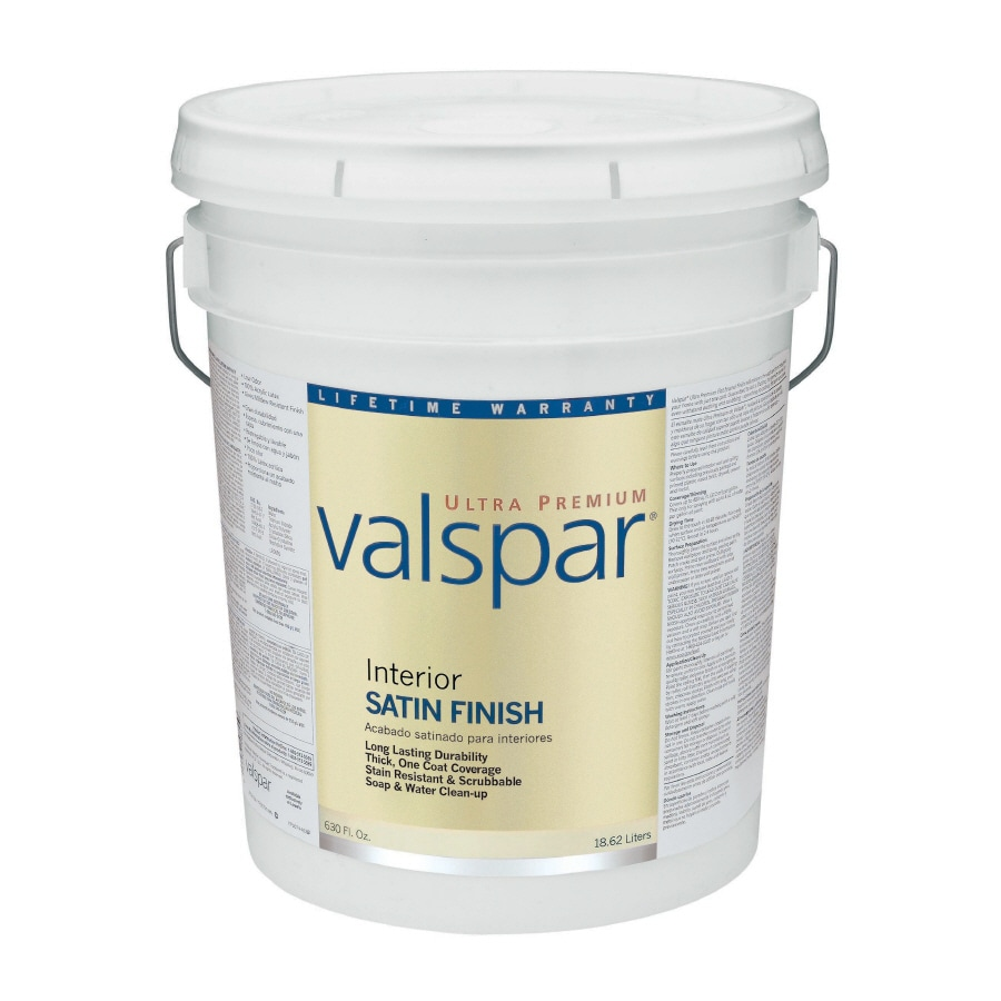 Valspar Ultra Premium 5-Gallon Interior Satin Tintable Latex-Base Paint