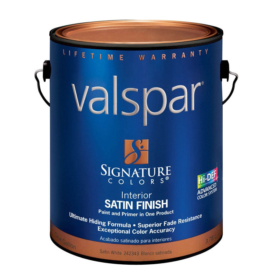 Valspar Signature Colors Gallon Interior Satin White Paint and Primer in One
