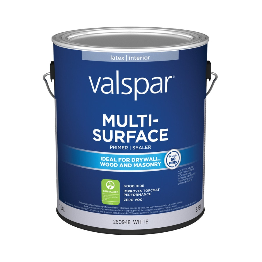 Shop Valspar Interior Latex Primer Actual Net Contents 128 Fl Oz At