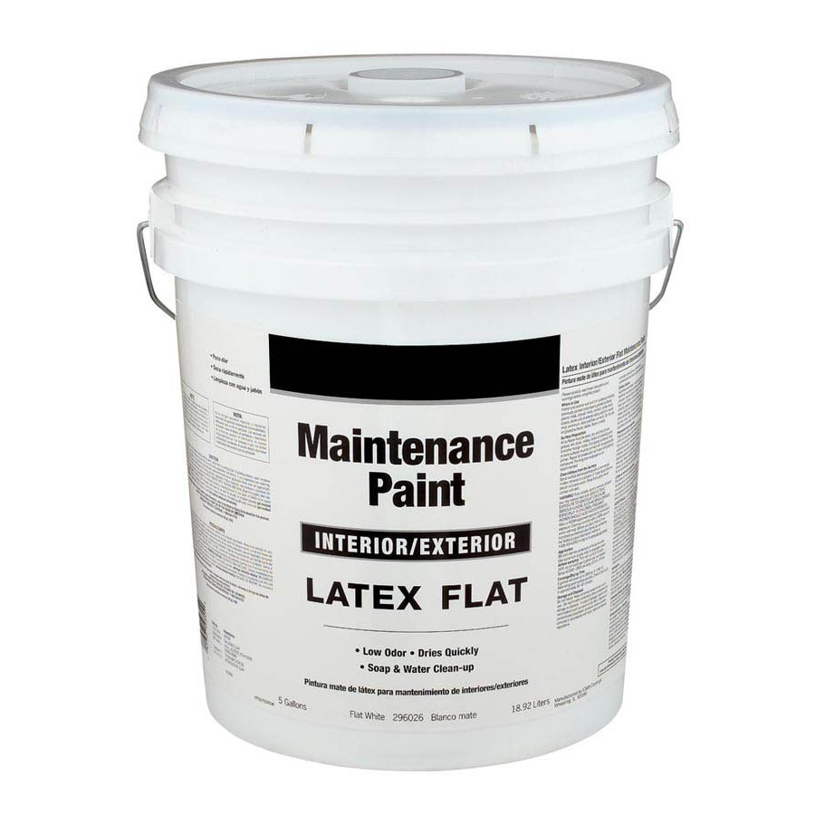 Valspar 5 Gallon Size Container Interior Flat White Latex Base Paint Actual Net Contents 640 Fl Oz