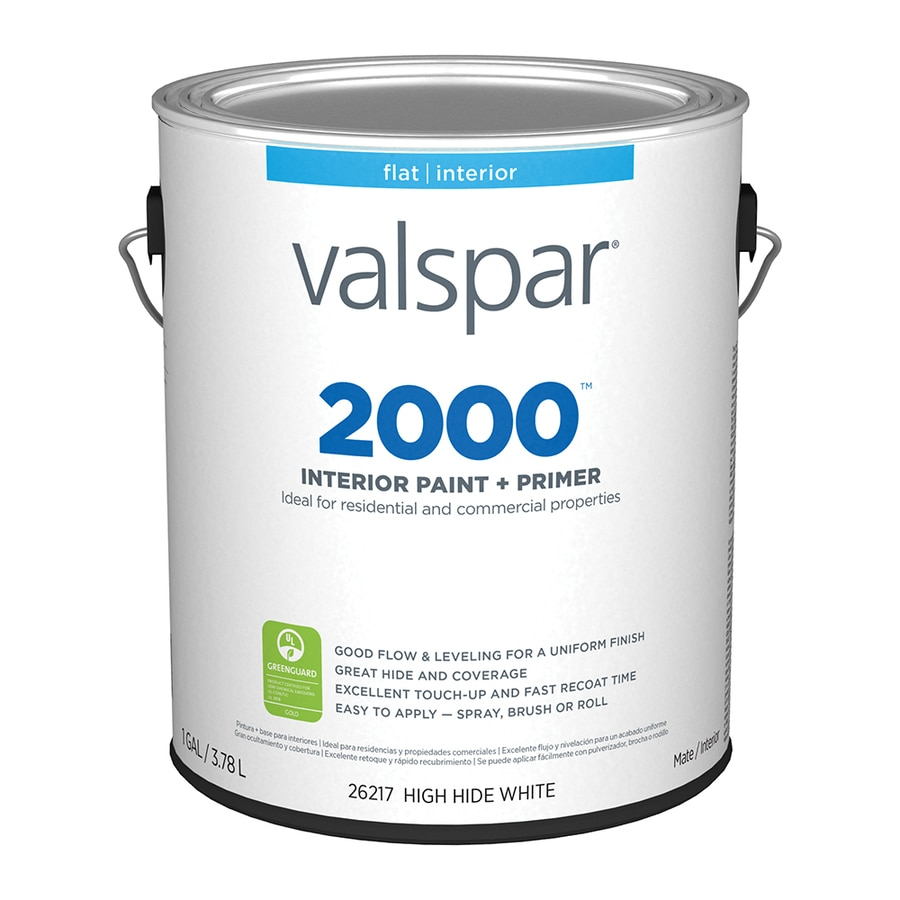 Valspar Ultra 2000 High Hide White Flat Latex Interior Paint and Primer in One (Actual Net Contents: 128-fl oz)