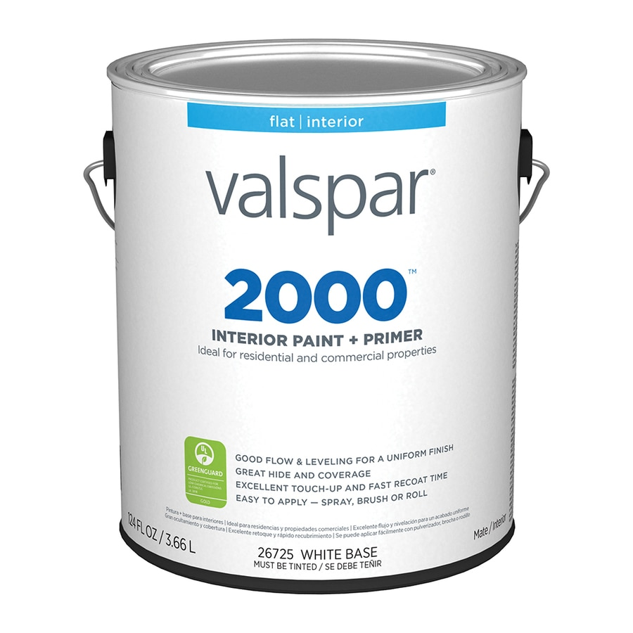 Valspar Ultra 2000 Pastel Base Flat Latex Interior Paint and Primer in One (Actual Net Contents: 124-fl oz)