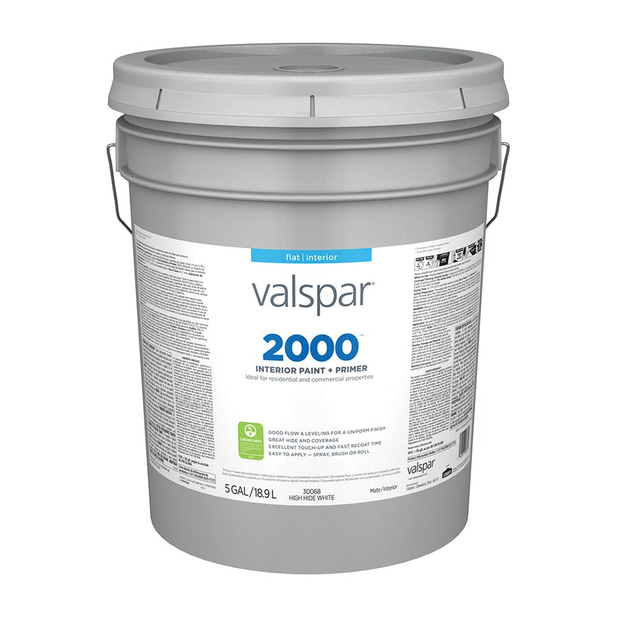 Valspar Ultra 2000 High Hide White Flat Latex Interior Paint and Primer in One (Actual Net Contents: 640-fl oz)