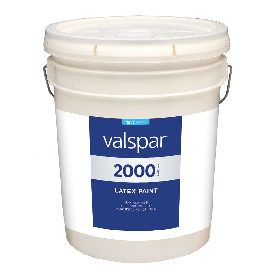 Valspar Contractor Finishes 2000 Pro 2000 White Flat Latex Interior Paint (Actual Net Contents: 580-fl oz)