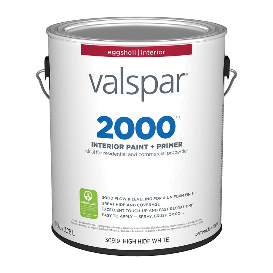 Valspar Ultra 2000 High Hide White Eggshell Latex Interior Paint and Primer in One (Actual Net Contents: 128-fl oz)