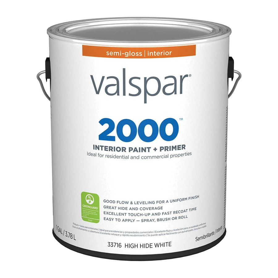 Valspar Ultra 2000 High Hide White Semi-Gloss Latex Interior Paint and Primer in One (Actual Net Contents: 128-fl oz)
