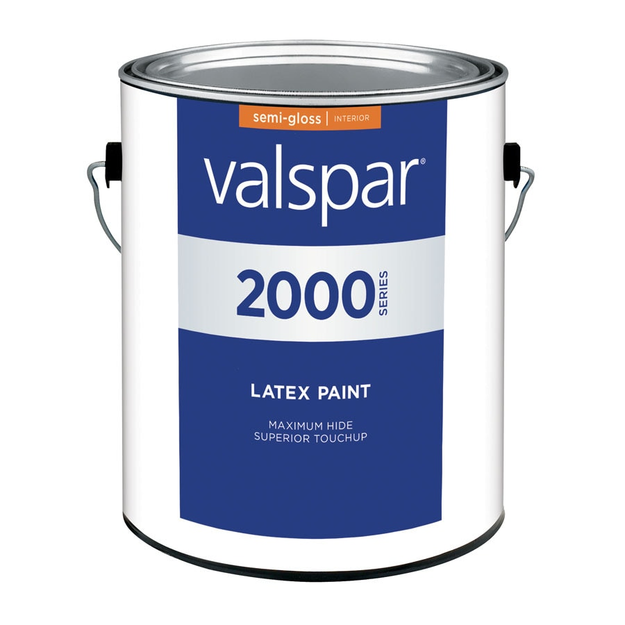 Valspar Contractor Finishes 2000 Pro 2000 Gallon Size Container Interior Semi-Gloss Tintable White Latex-Base Paint (Actual Net Contents: 120-fl oz)