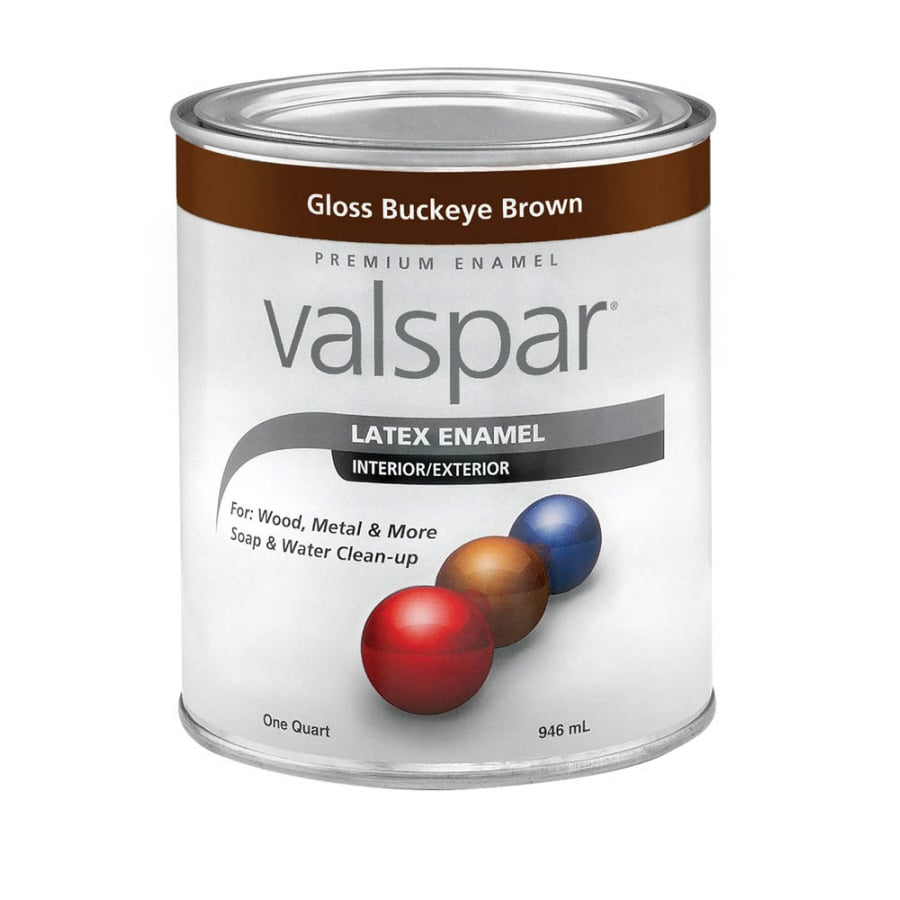 Valspar 1-Quart Interior/Exterior Gloss Gloss Buckeye Brown Latex-Base Paint