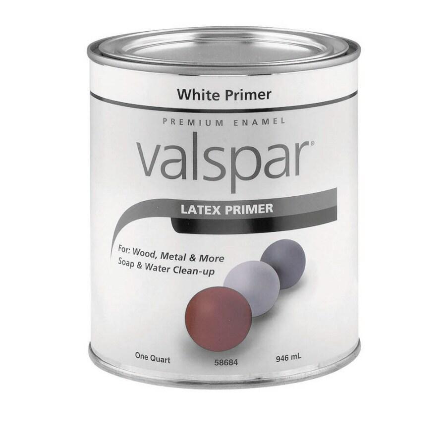 Shop Valspar Primer White Flat Latex Interior Exterior Paint Actual Net Contents 32 Fl Oz At