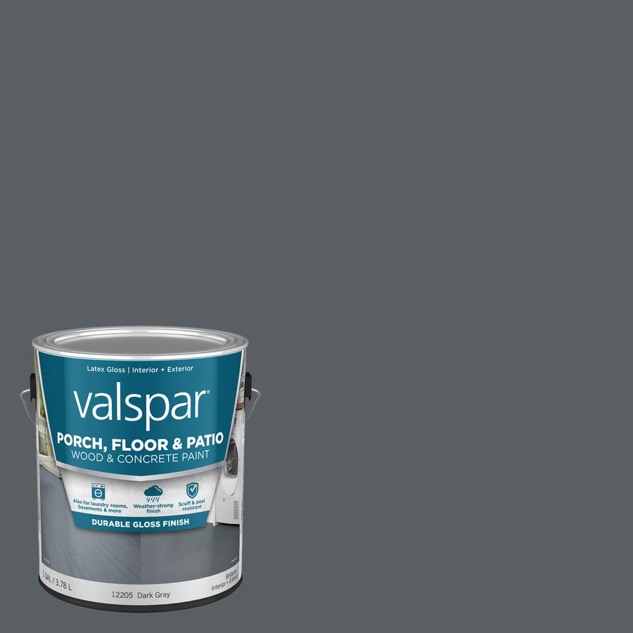 Valspar Dark Gray Gloss Interior/Exterior Porch and Floor Paint (Actual Net Contents: 128-fl oz)