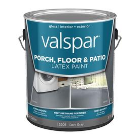 Valspar Dark Gray Gloss Interior Exterior Porch And Floor Paint Actual Net Contents