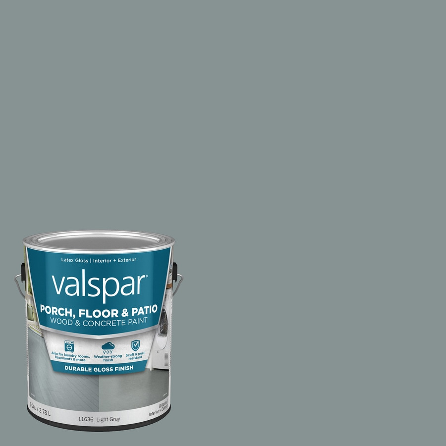 Valspar Light Gray Gloss Interior/Exterior Porch and Floor Paint (Actual Net Contents: 128-fl oz)