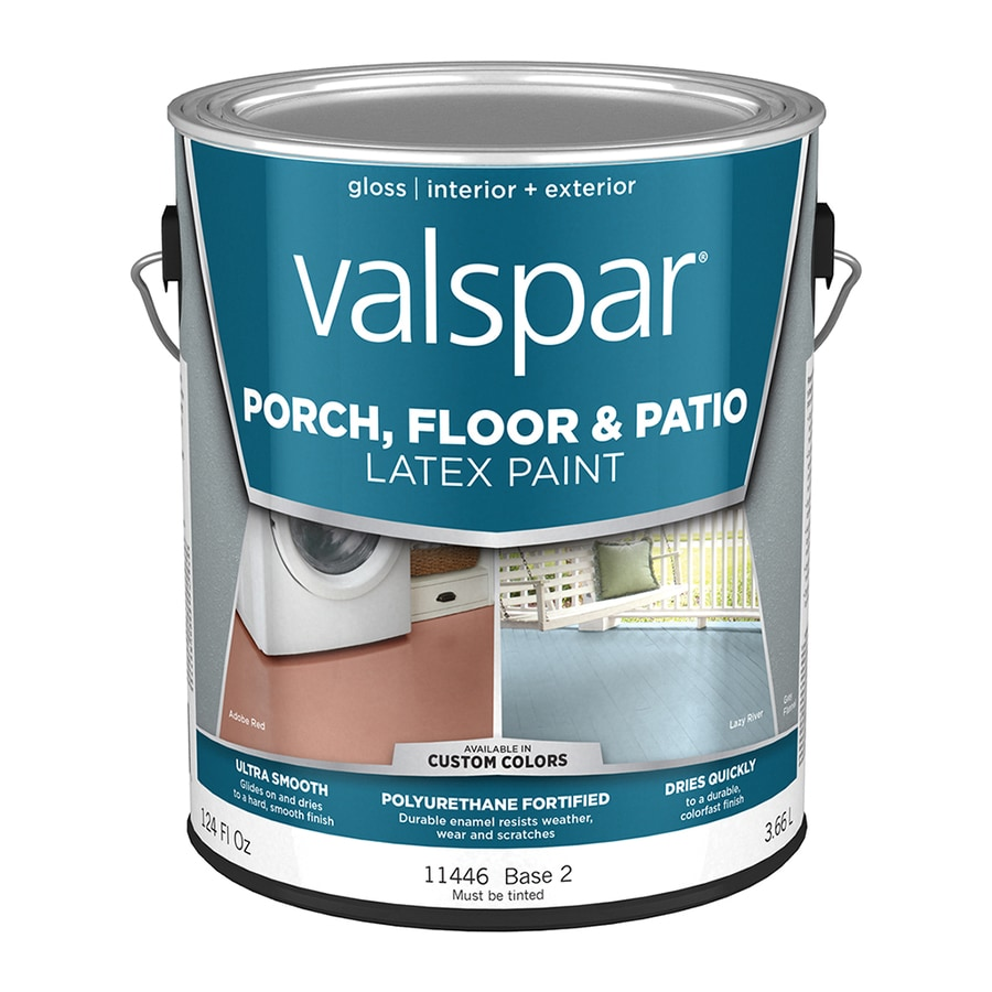 Valspar Base 2 Tintable Gloss Interior/Exterior Porch and Floor Paint (Actual Net Contents: 124-fl oz)