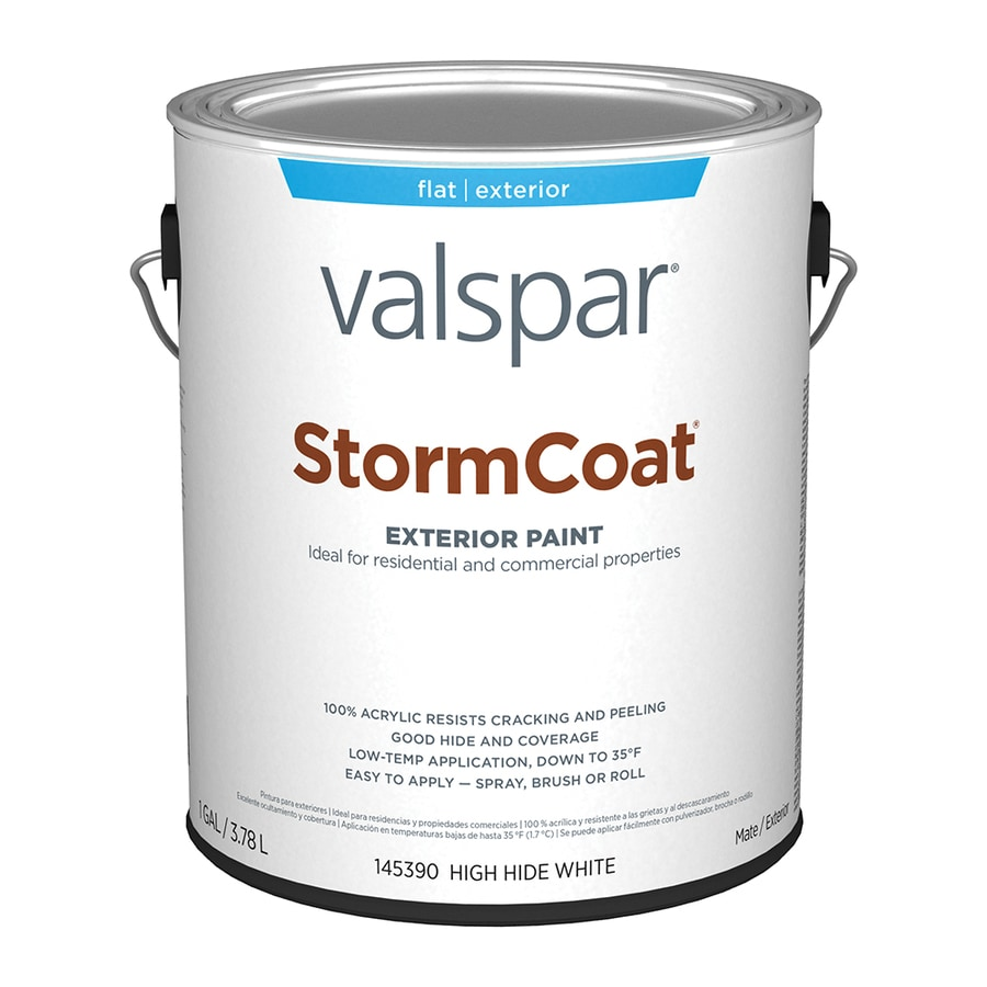 Shop Valspar Stormcoat Flat White Latex Exterior Paint