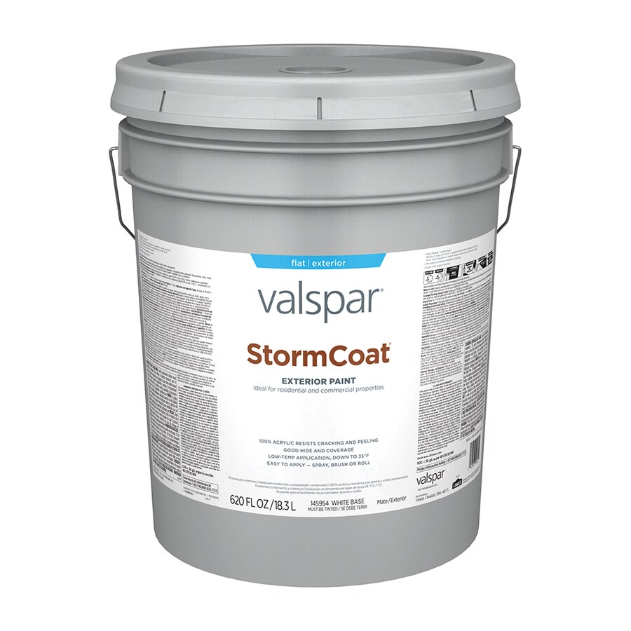 Valspar StormCoat Flat Exterior Paint (Actual Net Contents: 620-fl oz)