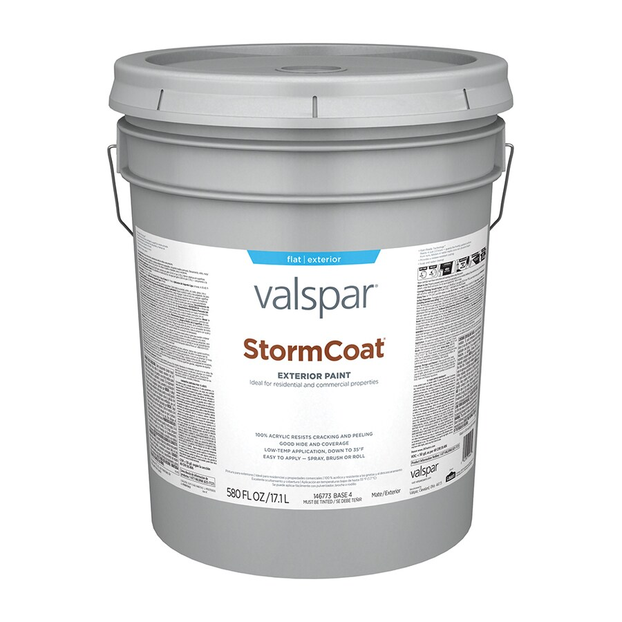 Valspar Stormcoat Flat Latex Exterior Paint (Actual Net Contents: 580-fl oz)