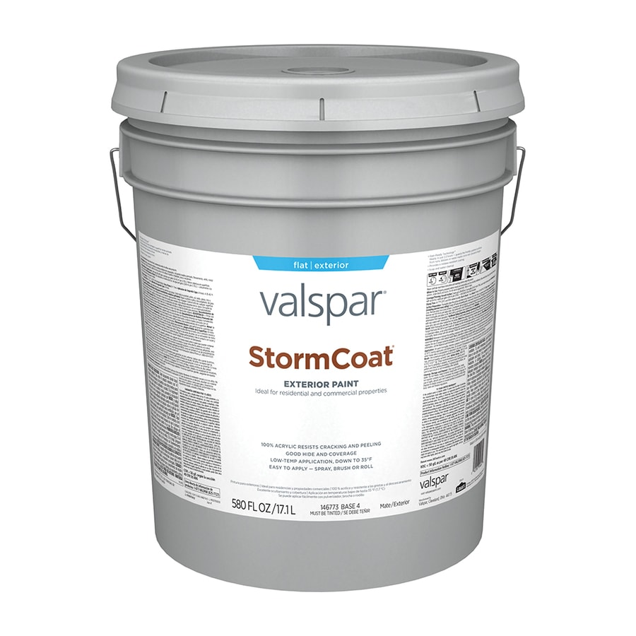 Valspar Stormcoat Flat Latex Exterior Paint Actual Net