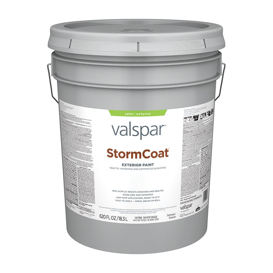 Valspar Stormcoat Satin Latex Exterior Paint (Actual Net Contents: 620-fl oz)