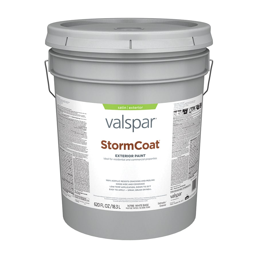 Valspar StormCoat Satin Exterior Paint (Actual Net Contents: 620-fl oz)