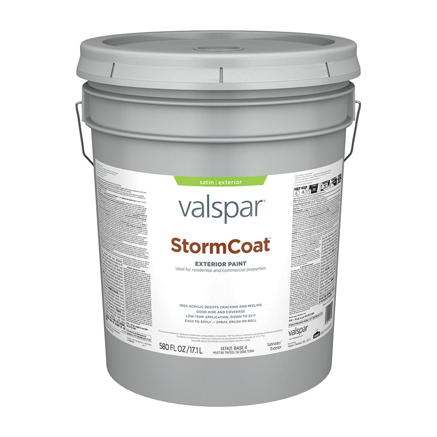 Shop Valspar Stormcoat Satin Latex Exterior Paint Actual Net Contents 580 Fl Oz At
