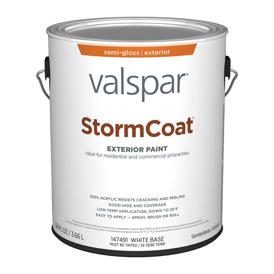 Amazing Valspar Stormcoat Semi Gloss Latex Exterior Paint (Actual Net Contents:  124 Fl