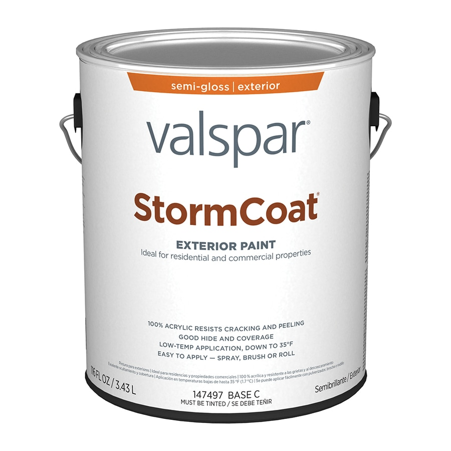 Valspar Stormcoat Semi-Gloss Latex Exterior Paint (Actual Net Contents: 116-fl oz)