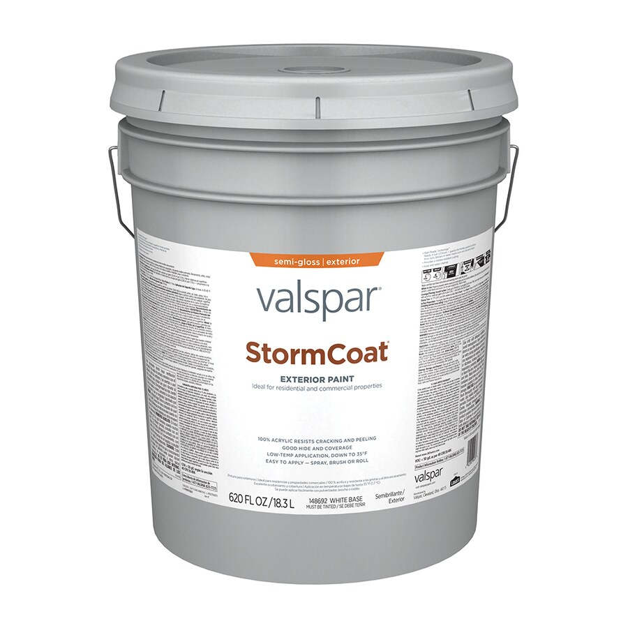 Valspar StormCoat Semi-Gloss Exterior Paint (Actual Net Contents: 620-fl oz)