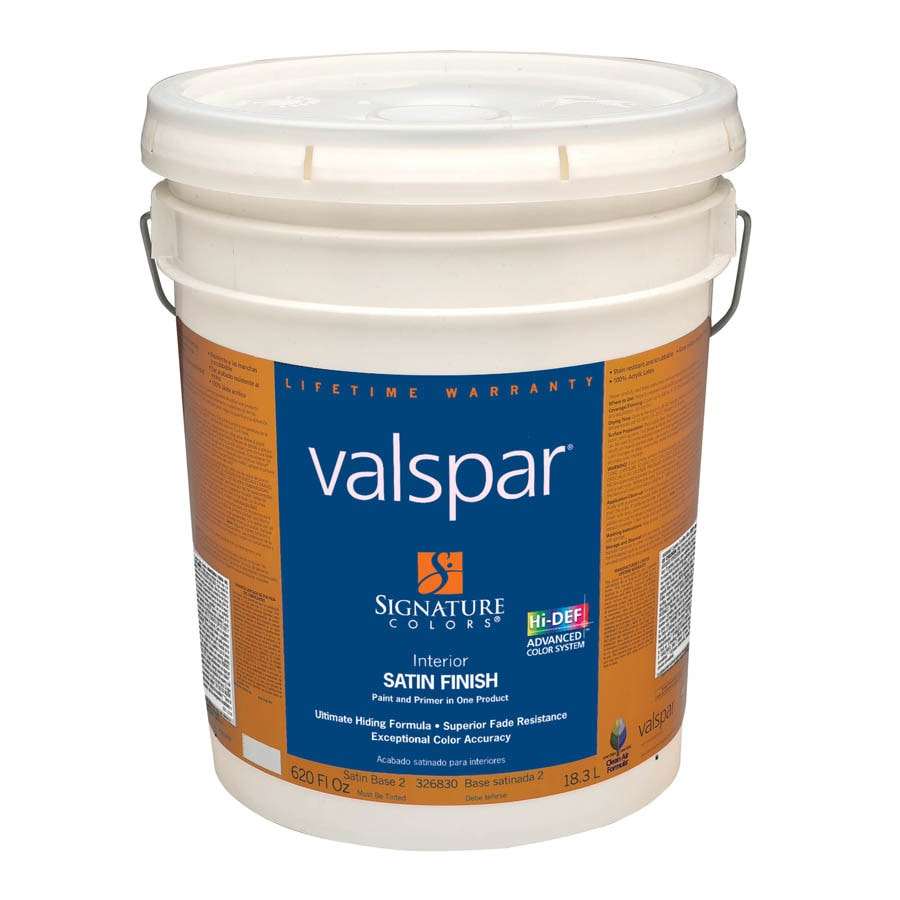 Valspar Signature Colors 5-Gallon Interior Satin Base 2 Latex-Base Paint and Primer in One