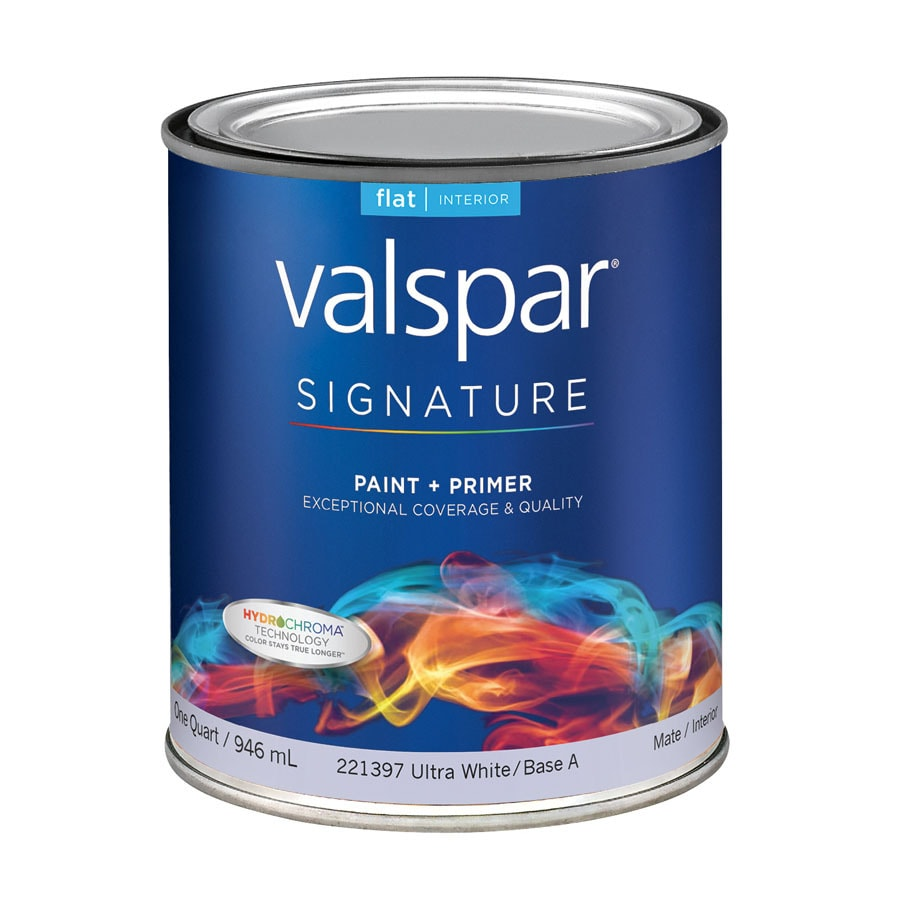 Valspar Signature White Flat Latex Interior Paint and Primer in One (Actual Net Contents: 32-fl oz)
