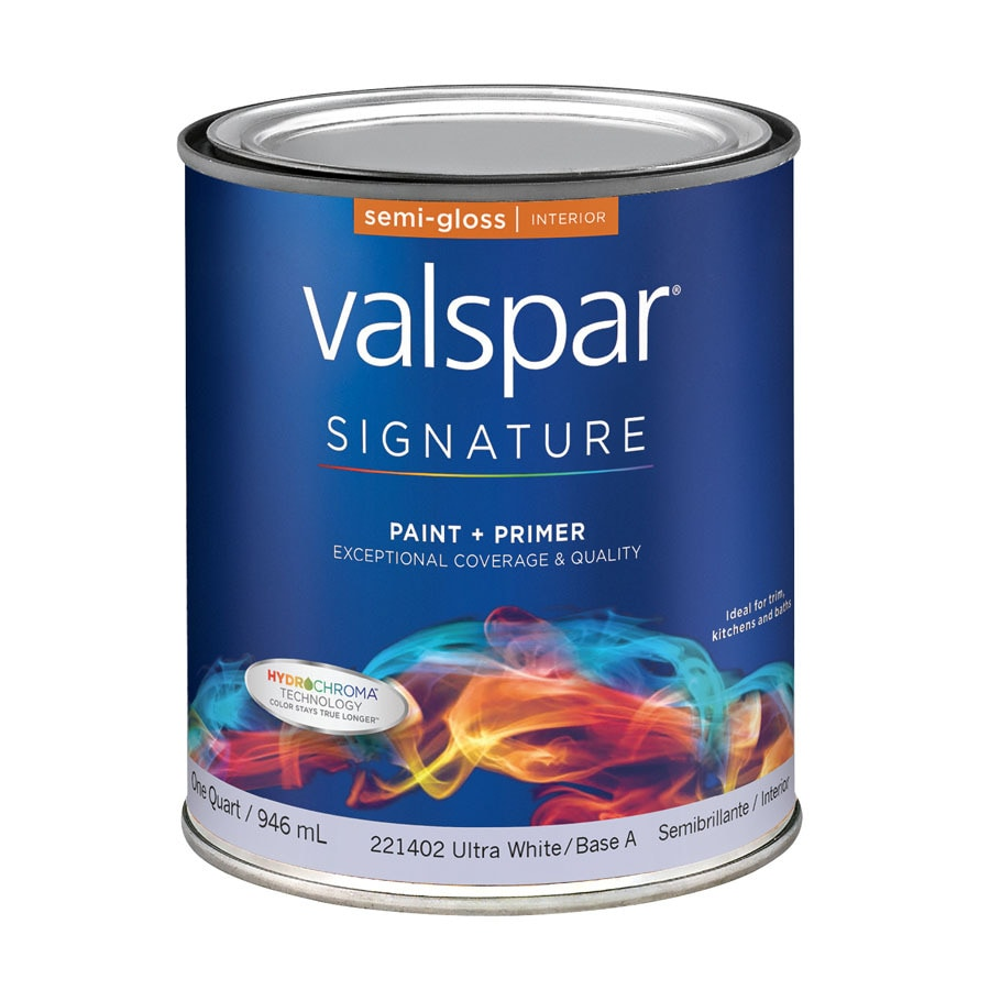 Shop Valspar Signature White Semi Gloss Latex Interior Paint And Primer In One Actual Net
