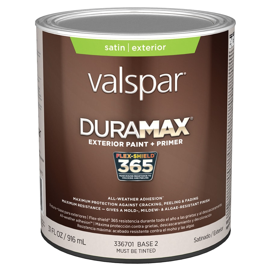 Shop Valspar Duramax Satin Latex Exterior Paint Actual Net Contents 31 Fl Oz At