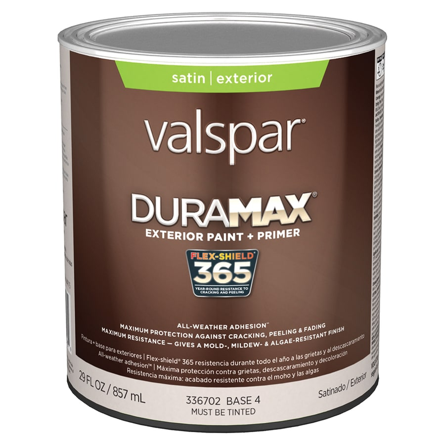 Shop Valspar Duramax Satin Latex Exterior Paint Actual Net Contents 29 Fl Oz At