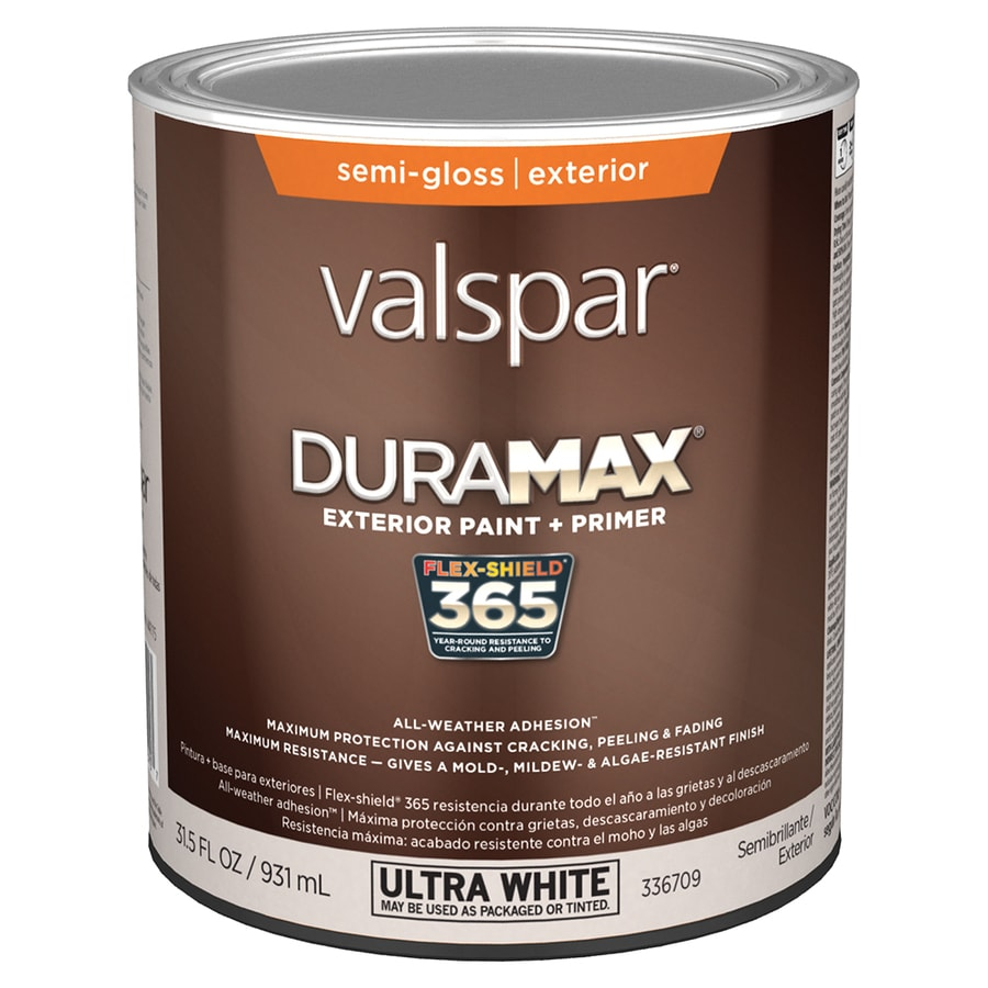 Shop Valspar Duramax Semi Gloss Latex Exterior Paint Actual Net Contents 31 5 Fl Oz At