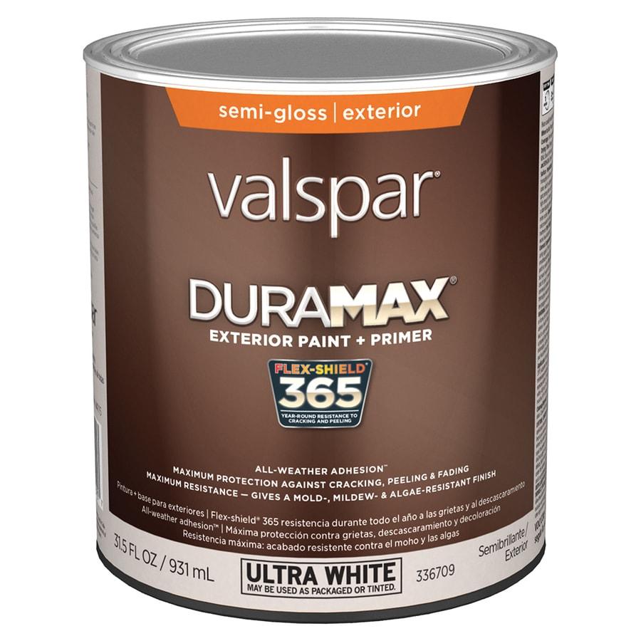 Shop Valspar Duramax Semi Gloss Latex Exterior Paint Actual Net Contents 31 5 Fl Oz At Lowes Com
