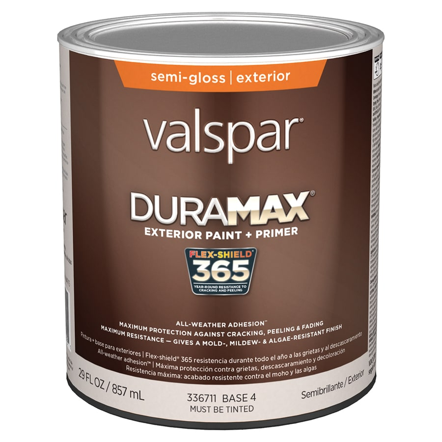 Shop Valspar Duramax Semi Gloss Latex Exterior Paint Actual Net Contents 29 Fl Oz At