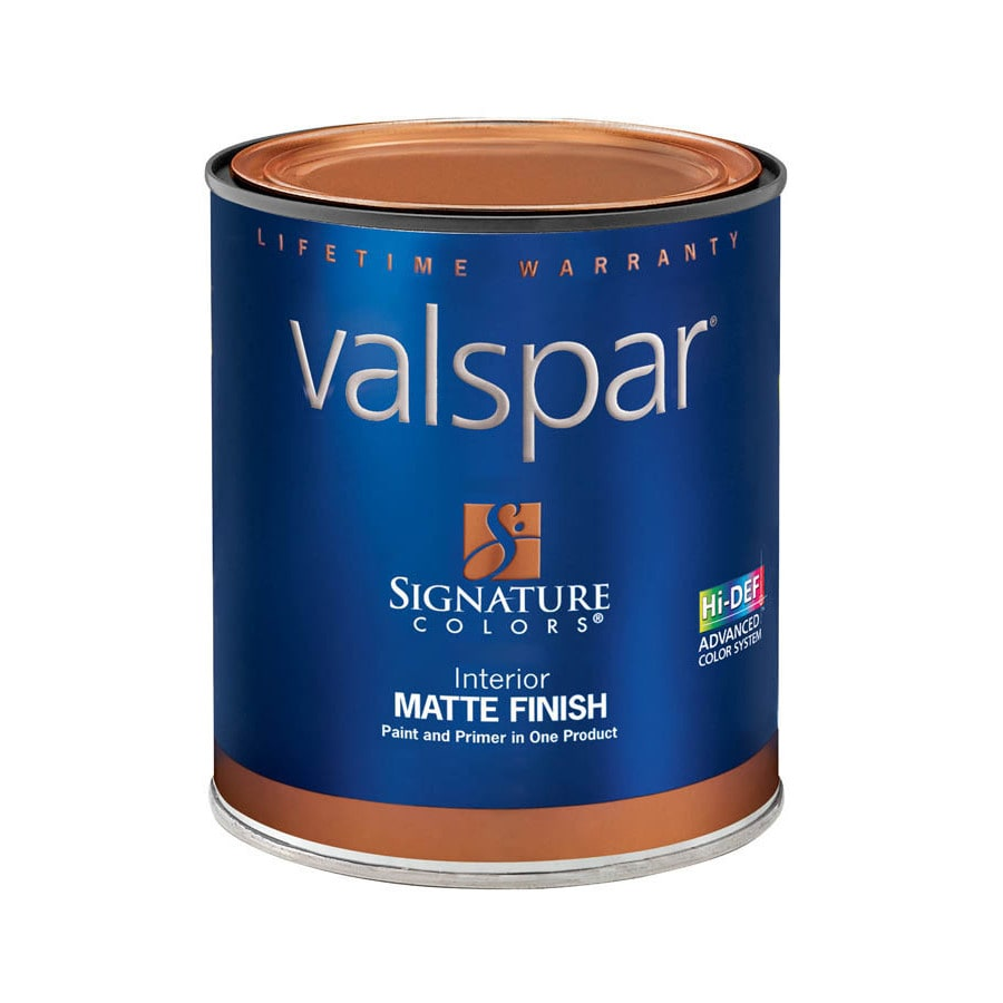 Valspar Signature Colors 1-Quart Interior Matte Tintable Latex-Base Paint and Primer in One