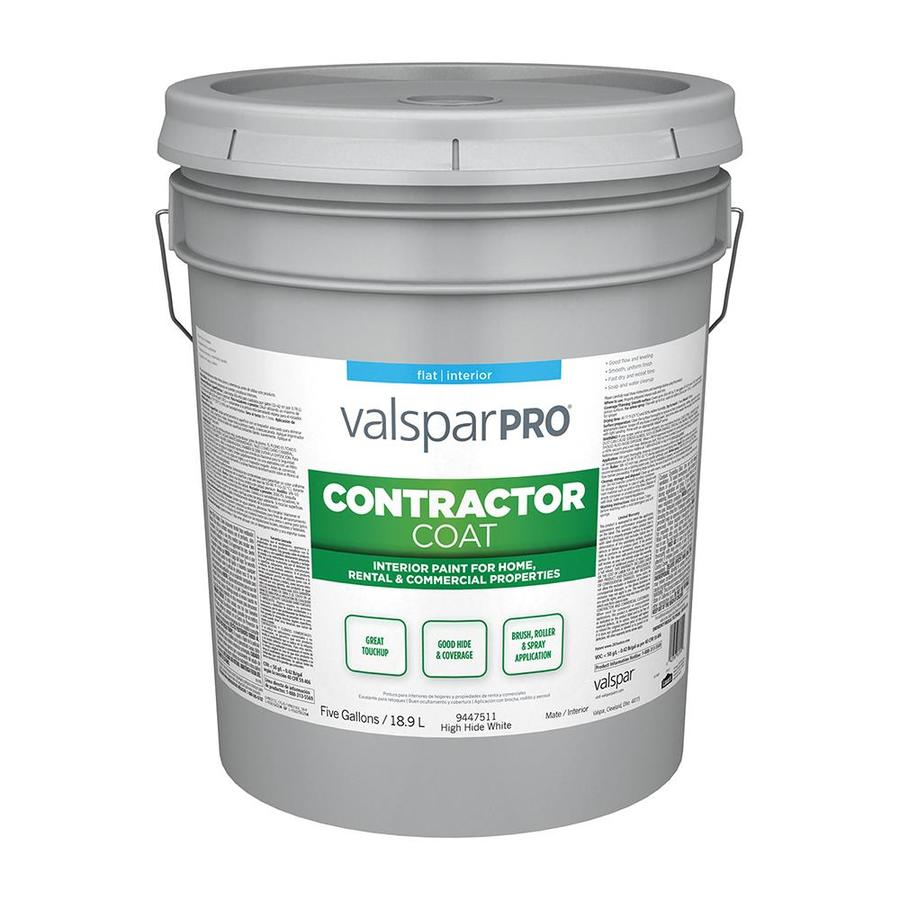 Valspar Ultra 4000 High Hide White Flat Latex Interior Paint (Actual Net Contents: 640-fl oz)