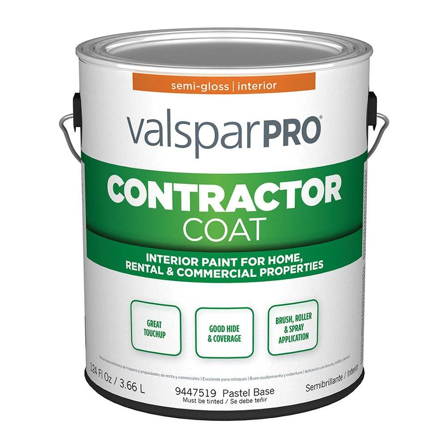 Shop Valspar Contractor Coat Semi Gloss Pastel Base Latex Paint Actual Net Contents 124 Fl Oz