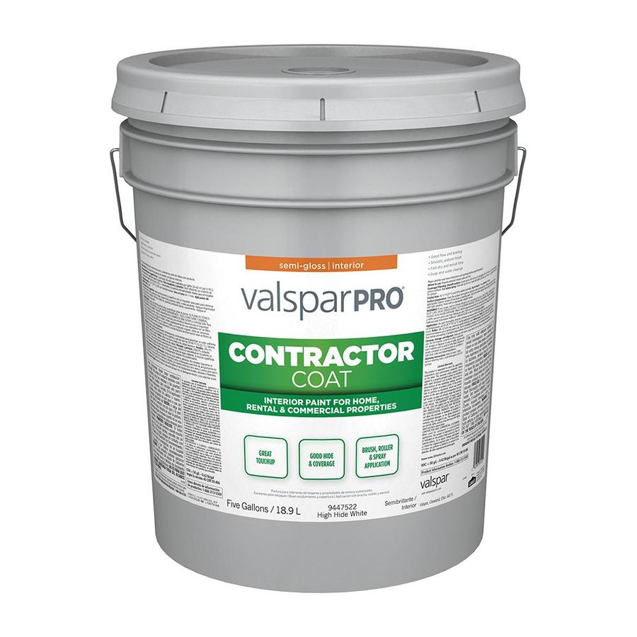 Valspar Pro Contractor Coat Semi Gloss High Hide White Latex Paint Actual Net Contents