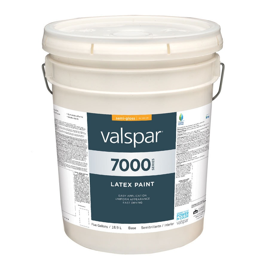 Shop Valspar 5 Gallon Size Container Interior Semi Gloss Tintable White Latex Base Paint Actual
