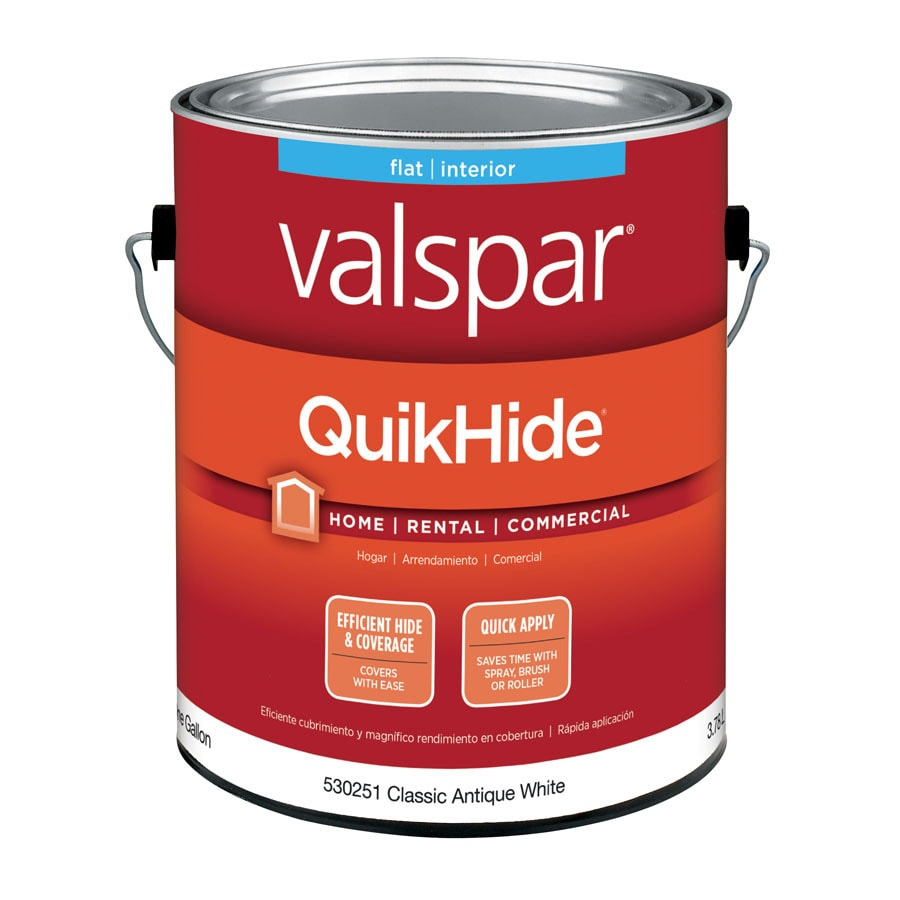 Valspar Flat Quikhide Clic Antique White Latex Paint Actual Net Contents 128 Fl