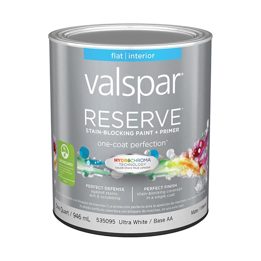 Valspar Reserve Flat Latex Interior Paint and Primer in One (Actual Net Contents: 32-fl oz)