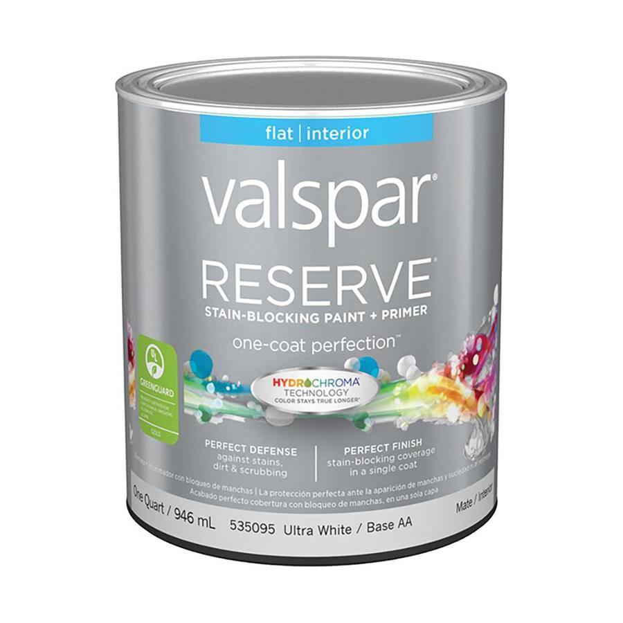 Shop Valspar Reserve Flat Latex Interior Paint And Primer In One Actual Net Contents 32 Fl Oz